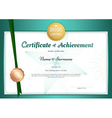 Modern certificate of achievement template vector image vector image