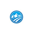 mountain landscape emblem logo vector image vector image
