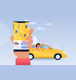 online taxi service application transport sharing vector image