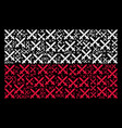 poland flag pattern of crossing swords items vector image