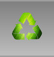 recycle green low poly logo vector image