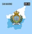 san marino map border with flag eps10 vector image