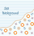 sea and nautical background vector image vector image