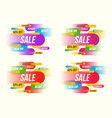 set of colorful horizontal dynamic style sale vector image