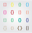 set of curly colored different bracket icons vector image vector image