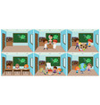 set student in classroom vector image