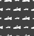 Shoe icon sign Seamless pattern on a gray vector image vector image