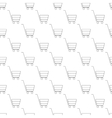 Shopping cart pattern seamless vector image vector image