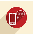 smartphone with cloud of sms dialogue vector image vector image
