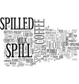 spill word cloud concept vector image vector image