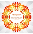 summer frame colorful abstract leaves vector image