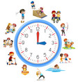 time relate with activity vector image vector image