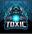 toxic gas esport mascot logo vector image vector image
