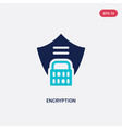 two color encryption icon from gdpr concept vector image vector image