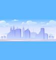 urban building skyline panoramic banner vector image