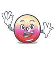 waving jelly ring candy character cartoon vector image vector image