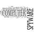 what is spyware text word cloud concept vector image vector image