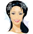 winter beautiful woman portrait vector image vector image