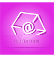 -mail at-sign vector image