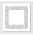 light background with a decorative frame vector image