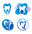 teeth logo set vector image