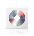 3d realistic white cd dvd in closed paper vector image vector image