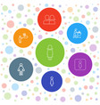 7 toilet icons vector image vector image