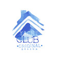 abstract emblem for yacht club sea or ocean theme vector image vector image