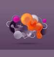 abstract modern graphic element dynamic colored vector image