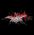 abstract word slam graffiti style font lettering vector image vector image