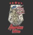 american veteran vector image vector image