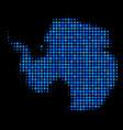 antarctica map mosaic dots vector image vector image