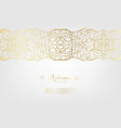 arabesque abstract element gold background border vector image