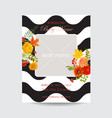 baby shower invitation template floral card vector image vector image