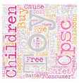 Baby Toy Safety text background wordcloud concept vector image vector image