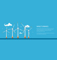 banner with offshore wind farm vector image vector image