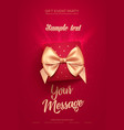 beautiful valentines day greeting flyer or poster vector image