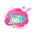 best sale and discounts banner with price tag vector image vector image