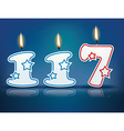Birthday candle number 117 vector image vector image