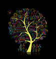 birthday party tree for your design vector image vector image