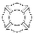 blank fire rescue logo base black linework vector image vector image