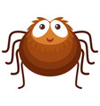 brown spider on white background vector image vector image