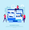 business data flat composition vector image
