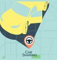 car sharing service concept carsharing rental car vector image