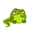 cartoon of cute green baby tadpole vector image vector image
