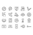 check mark icon set vector image vector image