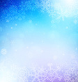 christmas background with snowflakes and lights vector image