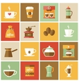 Coffee Icons Flat Set vector image vector image