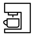 coffee machine line icon coffee maker vector image vector image