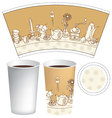 cup for coffee vector image vector image